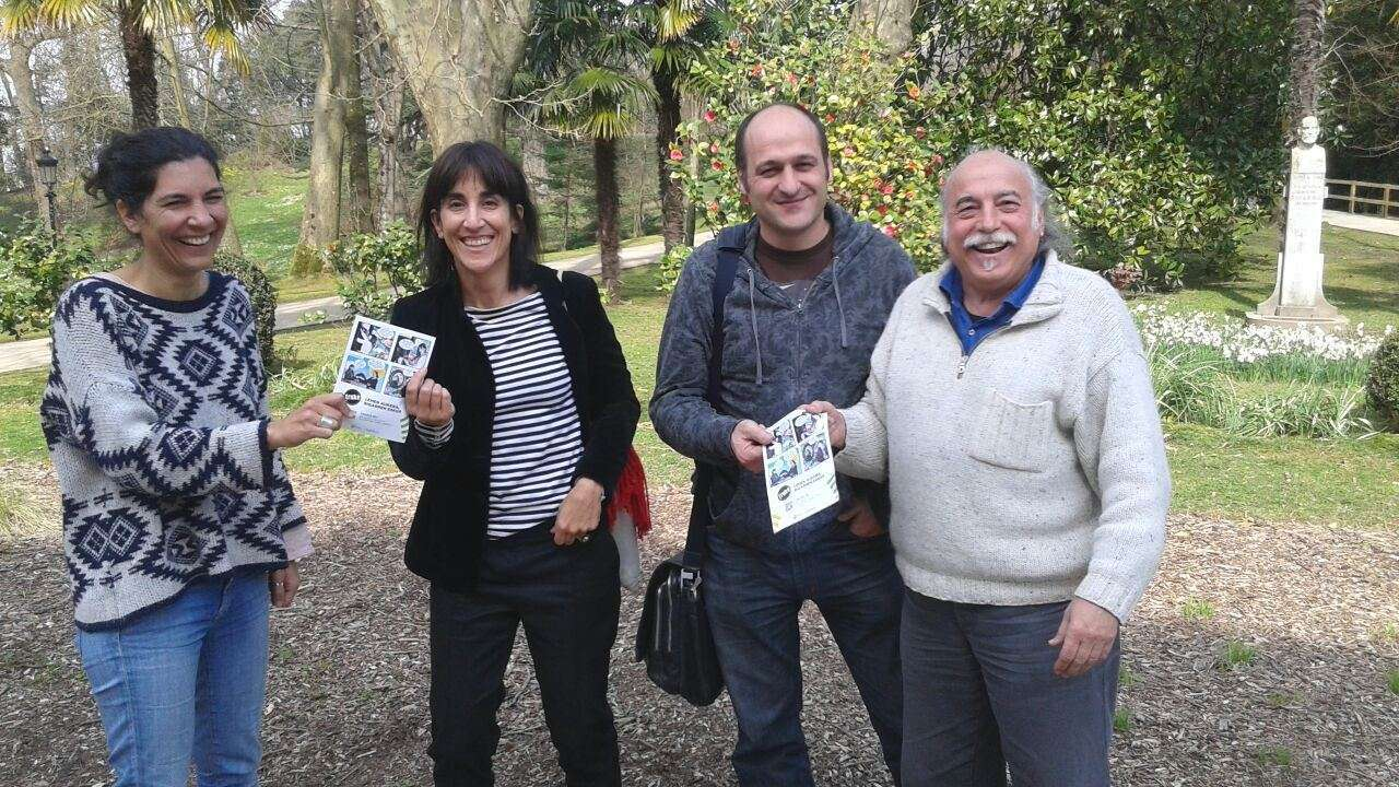 Representantes de Saretuz y Truke, en Cristina Enea.