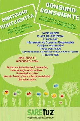 Cartel del Día del Consumo Responsable.