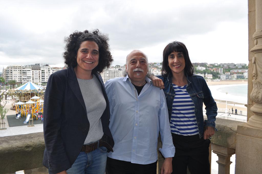 Maite Fernandez (MeCambio.net), Manu Gonzalez  (Cristina Enea) eta Teresa Sala (Truke.eu).